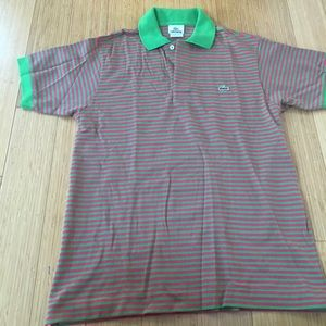 Mens xs Lacoste polo, pink & green